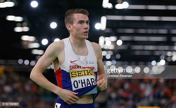 Chris O'Hare of Great Britain competes in the Men's 1500 Metres Final during day four of the IAAF World Indoor Championships at Oregon Convention...