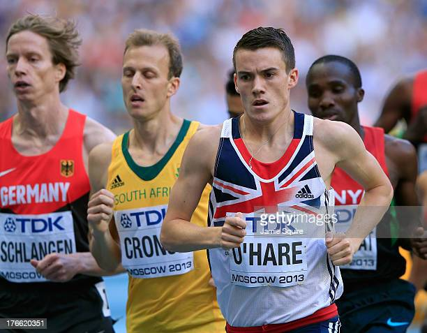 Chris O'Hare of Great Britain competes in the Men's 1500 metres semi finals during Day Seven of the 14th IAAF World Athletics Championships Moscow...