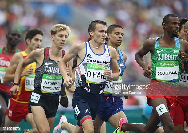 Chris O'Hare of Great Britain, Matthew Centrowitz of the United States, Ayanleh Souleiman of Djibouti and Charles Philibert-Thiboutot of Canada...