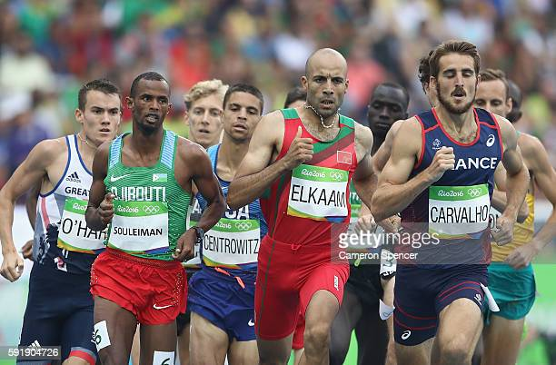 Chris O'Hare of Great Britain, Matthew Centrowitz of the United States, Florian Carvalho of France, Fouad Elkaam of Morocco, Ayanleh Souleiman of...