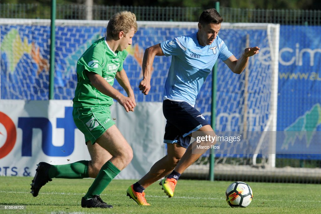 Chris Oikonomidis of SS lazio in action during the Pre-Season Friendly match between SS Lazio and Reappresentativa Cadore on July 16, 2017 in Pieve di Cadore, Italy.