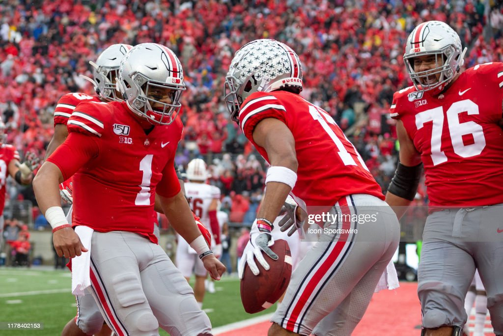 COLLEGE FOOTBALL: OCT 26 Wisconsin at Ohio State : Nyhetsfoto