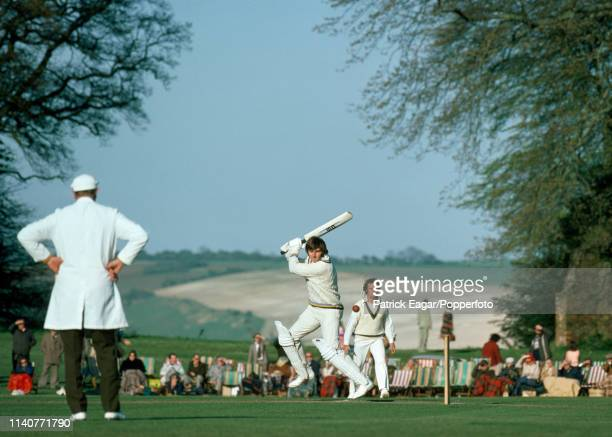 Chris Old of Yorkshire batting for Lavinia Duchess of Norfolk's XI during the tour match against the Australians at Arundel Castle Cricket Ground...