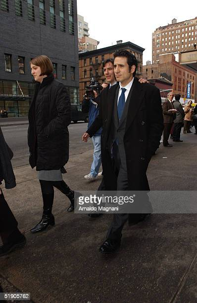 Chris Orbach attends the funeral of his father Jerry Orbach at Riverside Chapel December 31 2004 in New York City