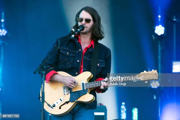 Chris Ostler of Black Honey performs at the Queens of the Stone Age and Friends show at Finsbury Park on June 30 2018 in London England