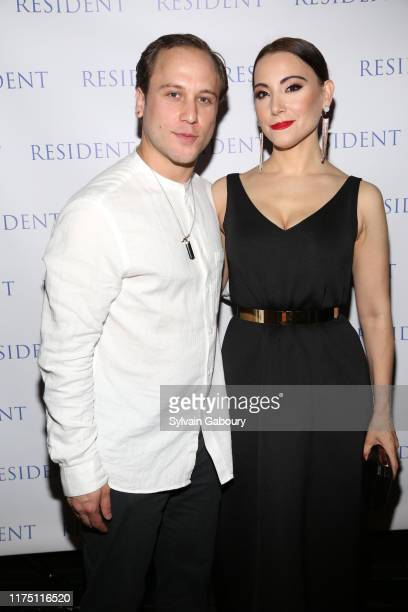 Chris Ostrowski and Janel Tanna attend Janel Tanna's Cover Party By Resident Magazine at Philippe Chow on October 9 2019 in New York City