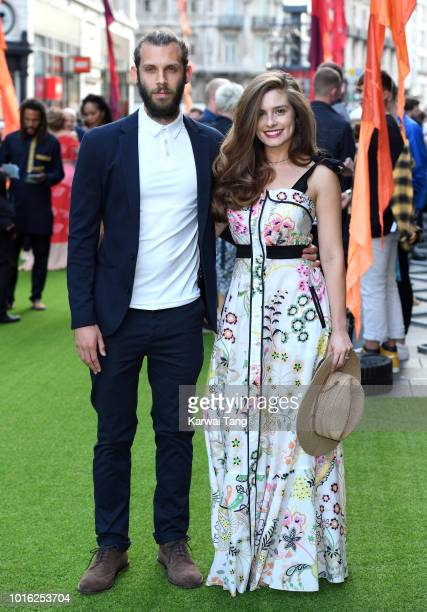 Chris Overton and Rachel Shenton attend the World Premiere of 'The Festival' at Cineworld Leicester Square on August 13 2018 in London England