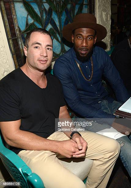 Chris Paciello and basketball player Amar'e Stoudemire attend DuJour Magazine's Jason Binn The Forge's Shareef Malnik Welcome Amar'e Stoudemire To...