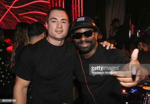 Chris Paciello and DJ Irie at Rockwell Miami on May 28 2018 in Miami Beach Florida