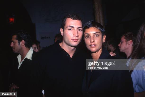 Chris Paciello and Ingrid Casares at Index on October 15 1997