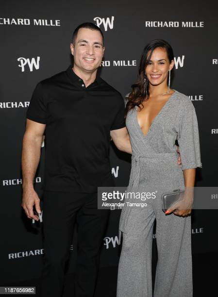 Chris Paciello and Karina Camelia attend the Richard Mille Celebration for the launch of the RM 5205 Tourbillon Pharrell Williams at Swan Miami on...