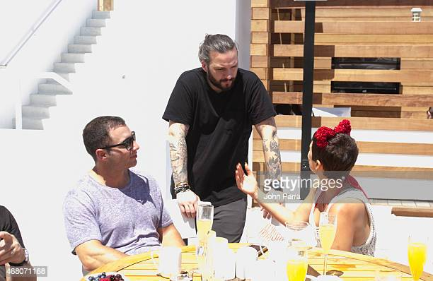 Chris Paciello and Steve Angello attend the Size Brunch At The 1 Hotel South Beach With Ciroc Vodka DeLeon Tequila PHHHOTOcom Produced By The Cult...