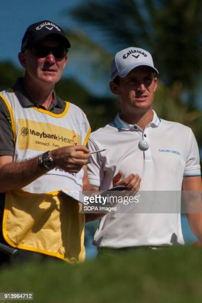 Chris Paisley is seen twith his caddie on day 3 at the Maybank Championship 2018 The Maybank Championship 2018 golf event is being hosted on 1st to...