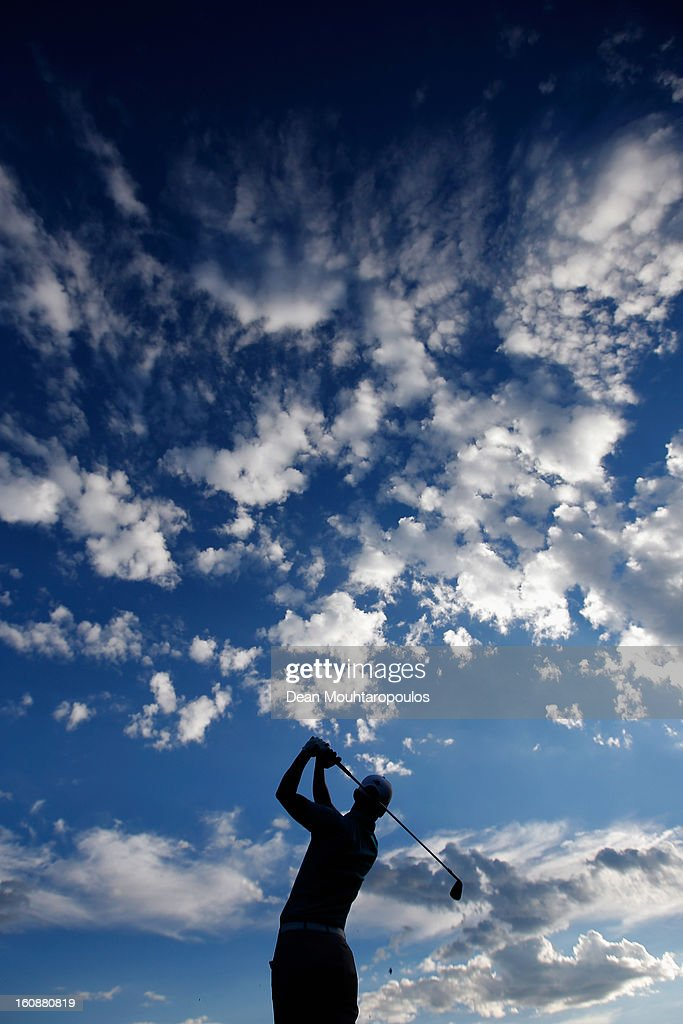 Chris Paisley of England hits balls on the driving range prior to Day One of the Joburg Open at Royal Johannesburg and Kensington Golf Club on February 7, 2013 in Johannesburg, South Africa.