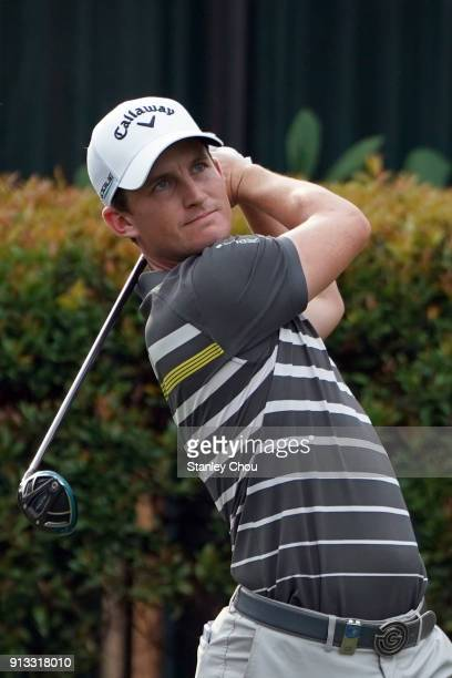 Chris Paisley of England in action during day two of the 2018 Maybank Championship Malaysia at Saujana Golf and Country Club on February 2 2018 in...