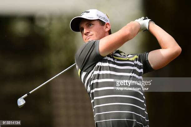 Chris Paisley of England pictured during day two of the 2018 Maybank Championship at Saujana Golf and Country Club on February 2 2018 in Kuala Lumpur...