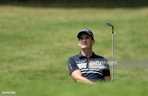 Chris Paisley of England plays his third shot on the par 5 11th hole during the second round of the World Golf ChampionshipsMexico Championship at...