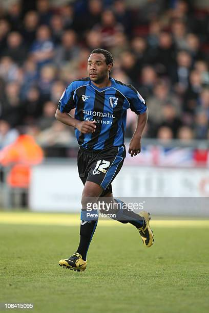 Chris Palmer of Gillingham in action during the npower League Two match between Northampton Town and Gillingham at Sixfields Stadium on October 30...