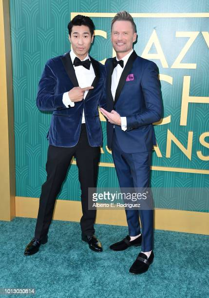 """Chris Pang and Brian Tyler attend the premiere of Warner Bros. Pictures' """"Crazy Rich Asiaans"""" at TCL Chinese Theatre IMAX on August 7, 2018 in..."""