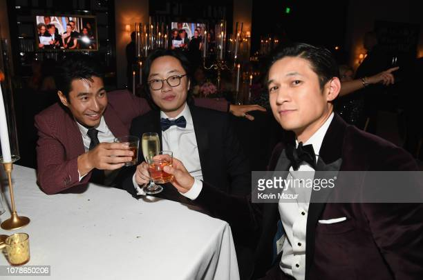 Chris Pang, Jimmy O. Yang, and Harry Shum Jr. Attend the 2019 InStyle and Warner Bros. 76th Annual Golden Globe Awards Post-Party at The Beverly...