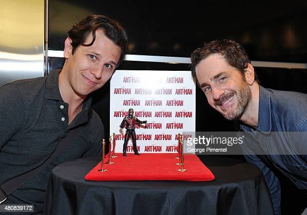 Chris Pare and actor Aaron Abrams attend Marvel's 'AntMan' Toronto Premiere at Cineplex Odeon Varsity and VIP Cinemas on July 15 2015 in Toronto...