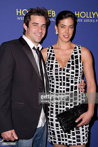 Chris Parke and Katie Caprio attend the 2nd annual HollyWeb Festival at Avalon on April 7 2013 in Hollywood California