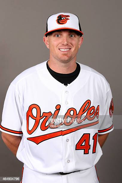 Chris Parmelee of the Baltimore Orioles poses on photo day at Ed Smith Stadium on March 1, 2015 in Sarasota, Florida.