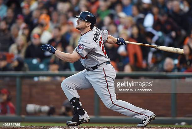 Chris Parmelee of the Minnesota Twins bats against the San Francisco Giants at AT&T Park on May 24, 2014 in San Francisco, California.