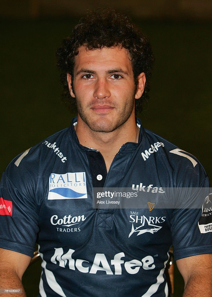 Chris Parrott of Sale Sharks during the Sale Sharks Photocall held at the Carrington Training Complex on August 14, 2007 in Carrington, England.