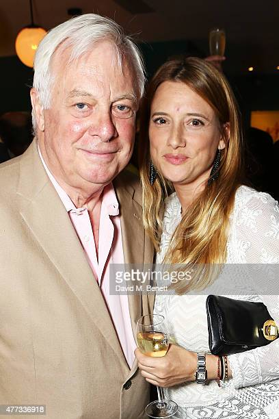 Chris Patten and daughter Laura at The Groucho Club's 30th Anniversary book launch at The Groucho Club on June 16 2015 in London England The memoir...