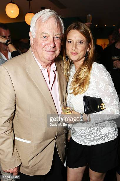 Chris Patten and daughter Laura at The Groucho Club's 30th Anniversary book launch in Soho at The Groucho Club on June 16 2015 in London England The...