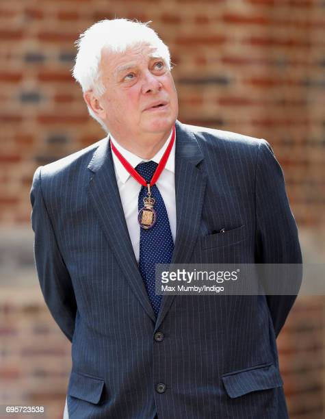 Chris Patten Baron Patten of Barnes arrives to attend Evensong at the Chapel Royal Hampton Court Palace to celebrate the Centenary of the founding of...