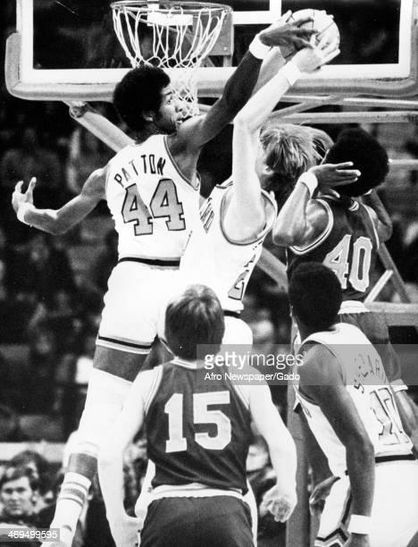 Chris Patton basketball player blocking the basket from Chris Burman of Richmond Bessemerr Alabama 1970