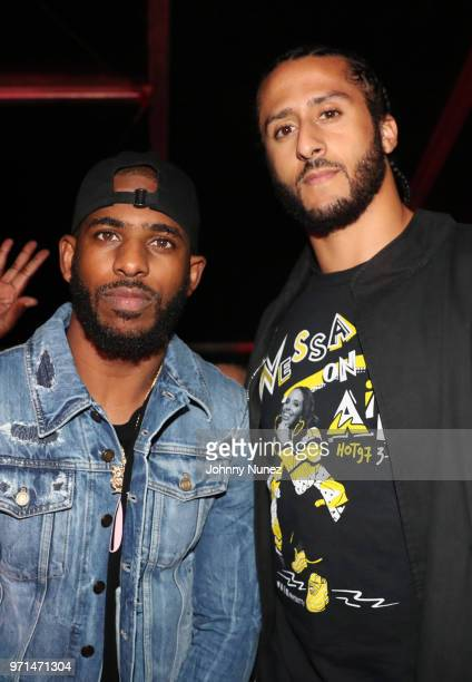 Chris Paul and Colin Kaepernick attend Summer Jam 2018 at MetLife Stadium on June 10 2018 in East Rutherford New Jersey