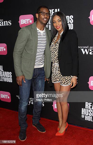 Chris Paul and wife Jada Paul attend BET Networks Premiere Screenings of Real Husbands of Hollywood and Second Generation Wayans at Regal Cinemas LA...