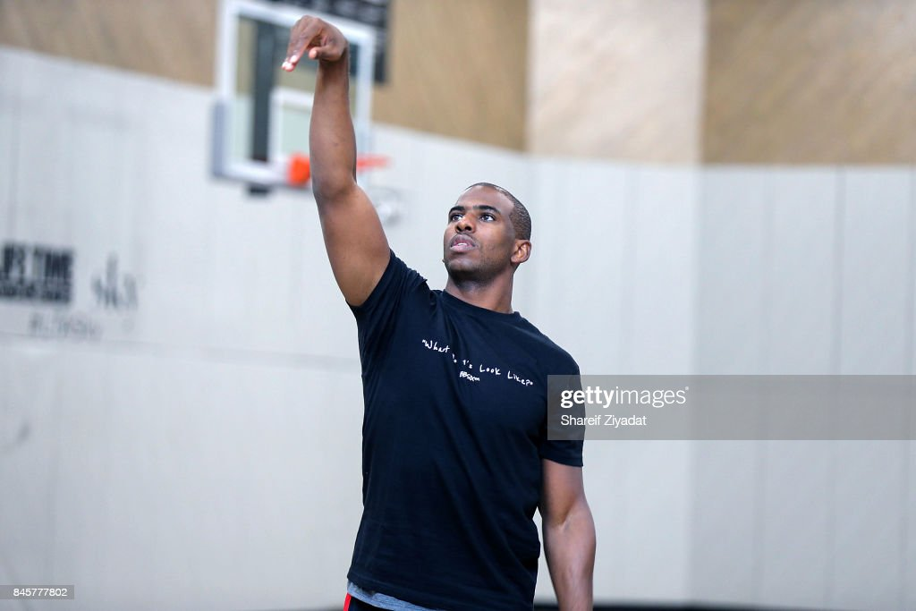 Chris Paul attends Black Ops Basketball Session at Life Time Athletic At Sky on September 11, 2017 in New York City.
