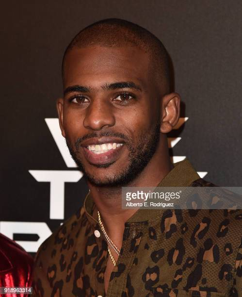 Chris Paul attends the 2018 Rookie USA Show at Milk Studios on February 15 2018 in Los Angeles California