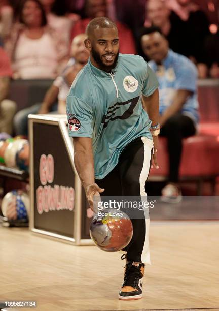 Chris Paul bowls during the 2019 State Farm Chris Paul PBA Celebrity Invitational on January 17 2019 in Houston Texas