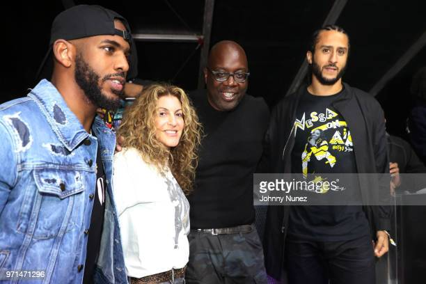 Chris Paul Julie Greenwald Michael Kyser and Colin Kaepernick attend Summer Jam 2018 at MetLife Stadium on June 10 2018 in East Rutherford New Jersey