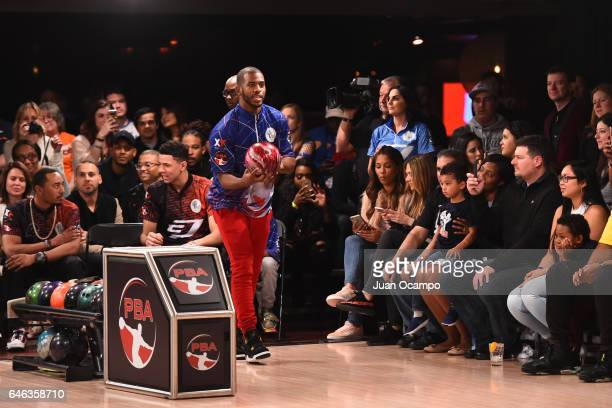 Chris Paul of the LA Clippers bowls at the State Farm CP3 PBA Celebrity Invitational hosted by Los Angeles Clippers allStar guard Chris Paul on...