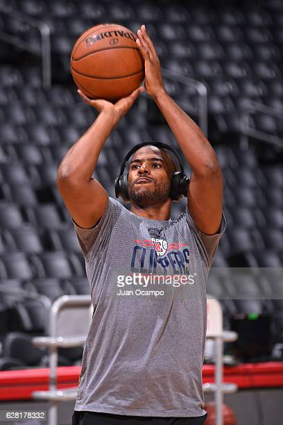 Chris Paul of the LA Clippers warms up before the game against the Detroit Pistons on November 7 2016 at the STAPLES Center in Los Angeles California...