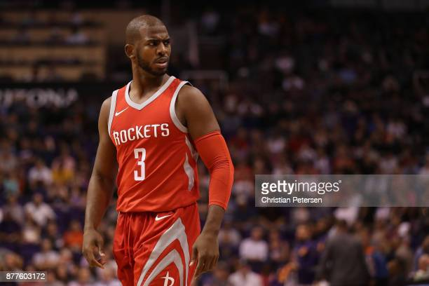 Chris Paul of the Houston Rockets during the second half of the NBA game against the Phoenix Suns at Talking Stick Resort Arena on November 16 2017...