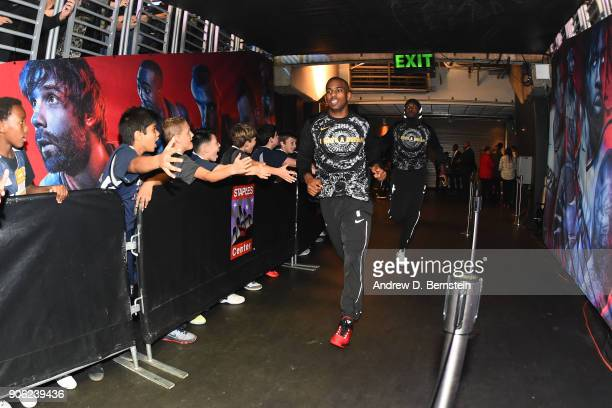 Chris Paul of the Houston Rockets enters the arena prior to the game against the LA Clippers on January 15 2018 at STAPLES Center in Los Angeles...