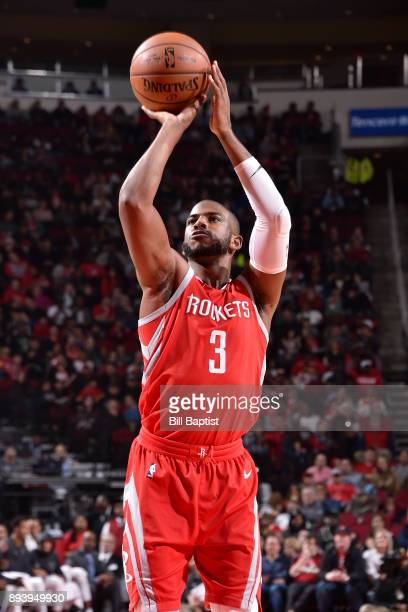 Chris Paul of the Houston Rockets shoots the ball against the Milwaukee Bucks on December 16 2017 at the Toyota Center in Houston Texas NOTE TO USER...