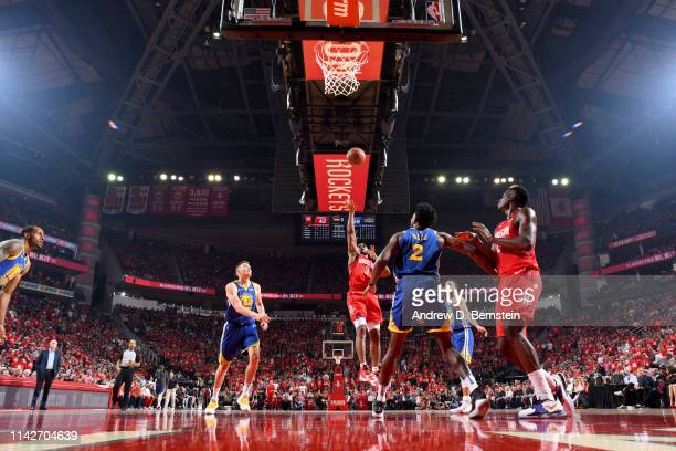 Chris Paul of the Houston Rockets shoots the ball against the Golden State Warriors during Game Six of the Western Conference Semifinals of the 2019...