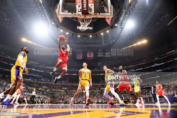 Chris Paul of the Houston Rockets shoots the ball against the Los Angeles Lakers on October 20 2018 at STAPLES Center in Los Angeles California NOTE...