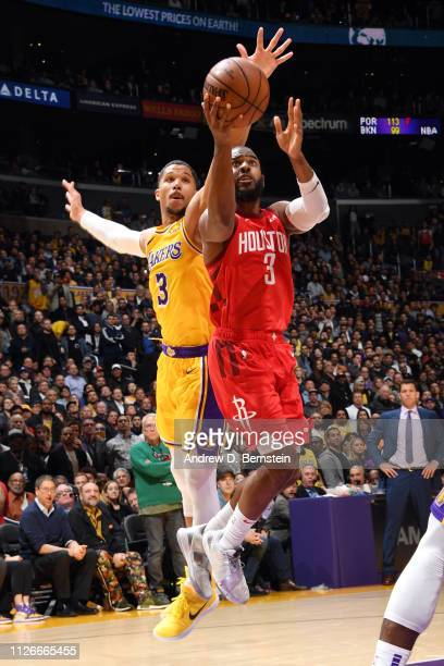 Chris Paul of the Houston Rockets shoots the ball against the Los Angeles Lakers on February 21 2019 at STAPLES Center in Los Angeles California NOTE...
