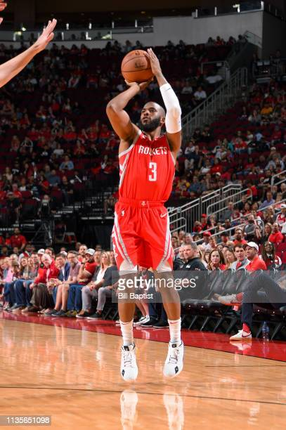 Chris Paul of the Houston Rockets shoots the ball against the Phoenix Suns on April 7 2019 at the Toyota Center in Houston Texas NOTE TO USER User...