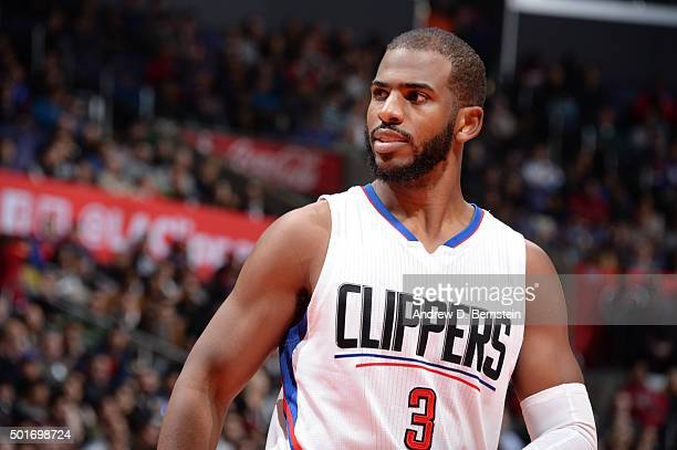 Chris Paul of the Los Angeles Clippers during the game against the Milwaukee Bucks on December 16 2015 at STAPLES Center in Los Angeles California...