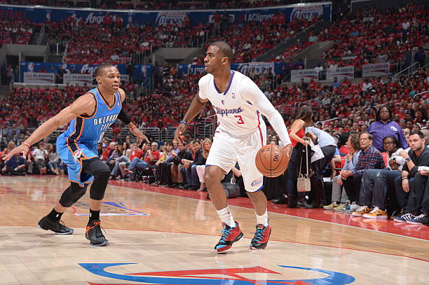 Chris Paul of the Los Angeles Clippers vs. Thunder